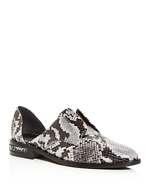 Freda Salvador Women's Wear Laceless Croc-Embossed d'Orsay Leather Oxfords