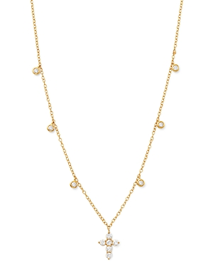 Bloomingdale's Diamond Cross Pendant Necklace in 14K Yellow Gold, 0.50 ct. t.w. - 100% Exclusive
