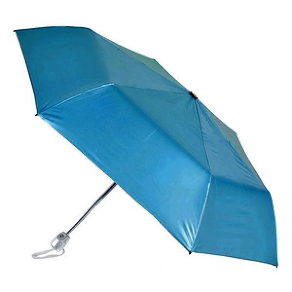 2mm 第二代 100%遮光降溫 黑膠自動開收傘_寶藍