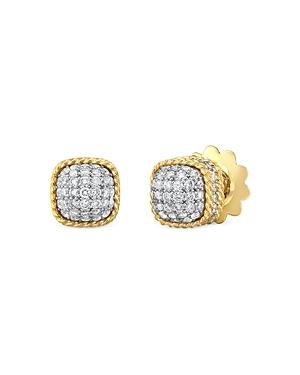 Roberto Coin 18K Yellow Gold Roman Barocco Diamond Stud Earrings