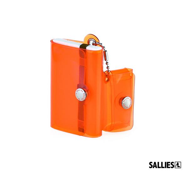 SALLIES Minimal Wallet PocketPal透視感迷你錢包(螢光橘)