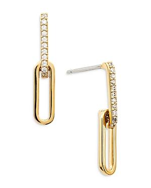 Nadri Lynx Double Link Drop Earrings
