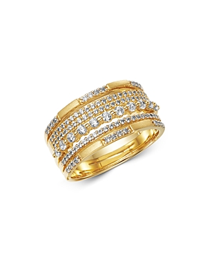 Bloomingdale's Diamond Multi Row Band in Satin Finish 14K Yellow Gold, 0.60 ct. t.w. - 100% Exclusiv