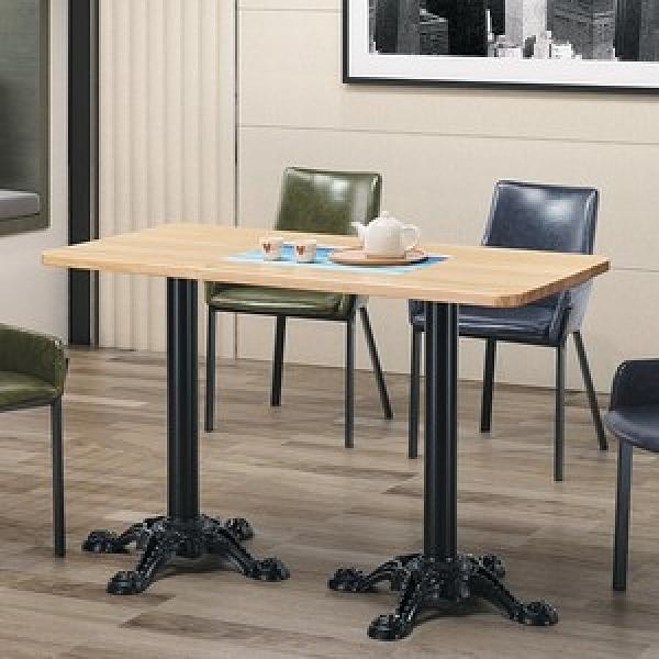 拿破崙4尺實木圓角餐桌