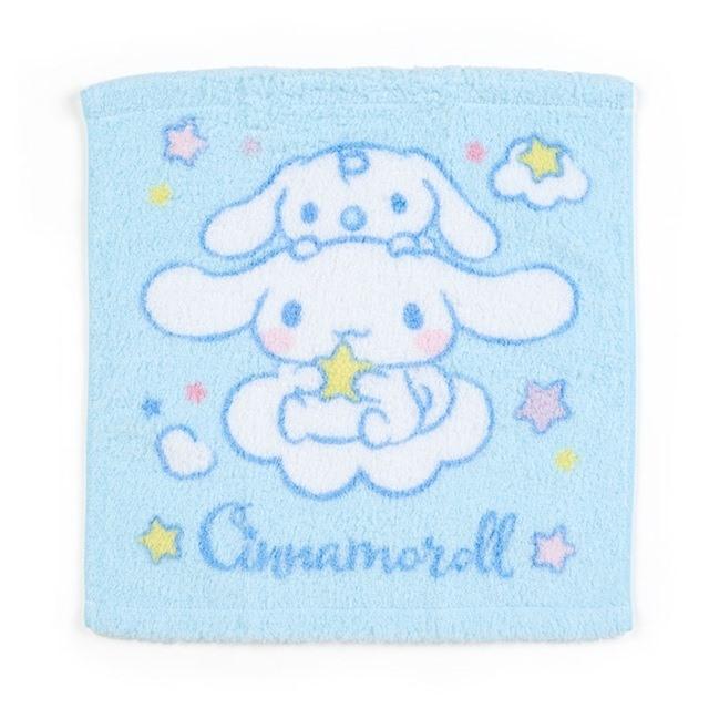 大耳狗 純棉無捻紗短毛巾 純棉毛巾 方形毛巾 34x36cm (藍 朋友)