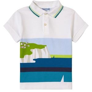 Jacadi White Coastal Polo Shirt 8 years