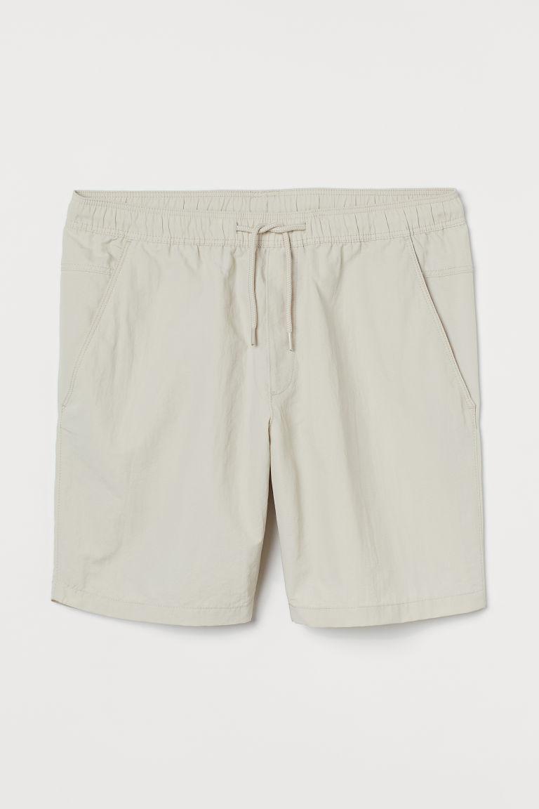 H & M - 合身短褲 - 米黃色