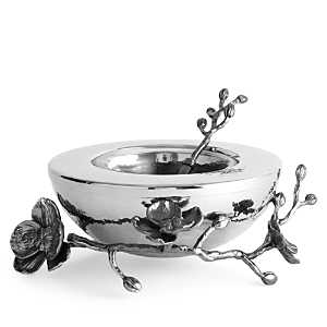 Michael Aram Black Orchid Caviar Dish and Spoon