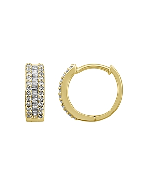 Bloomingdale's Diamond Baguette Hoop Earrings in 14K Yellow Gold, 0.25 ct. t.w. - 100% Exclusive