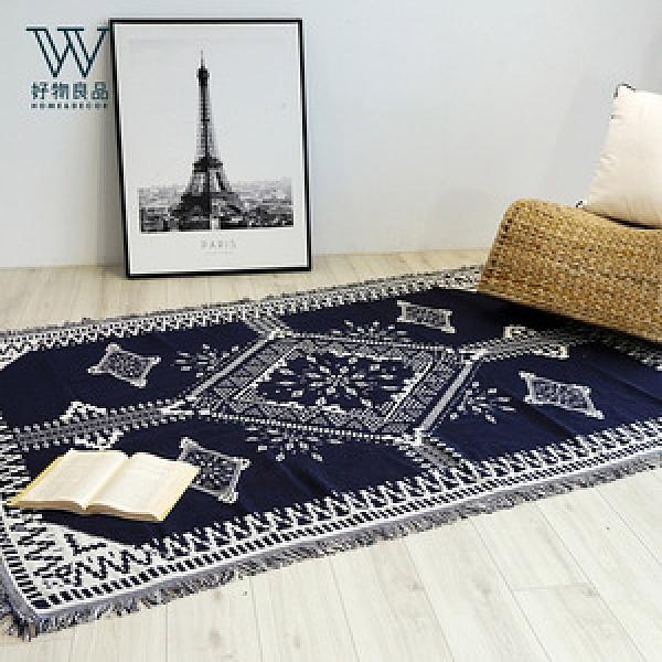 【好物良品】多功能雙面沙發毯蓋毯蓋巾-藏青民族_130×180cm藏青民族_130×180