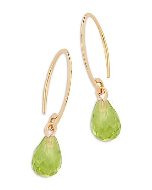 Bloomingdale's Peridot Briolette Mini Sweep Drop Earrings in 14K Yellow Gold - 100% Exclusive
