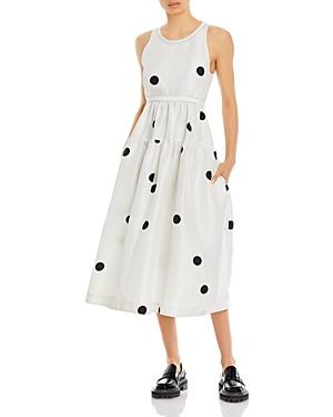 3.1 Phillip Lim Dot Print Midi Dress