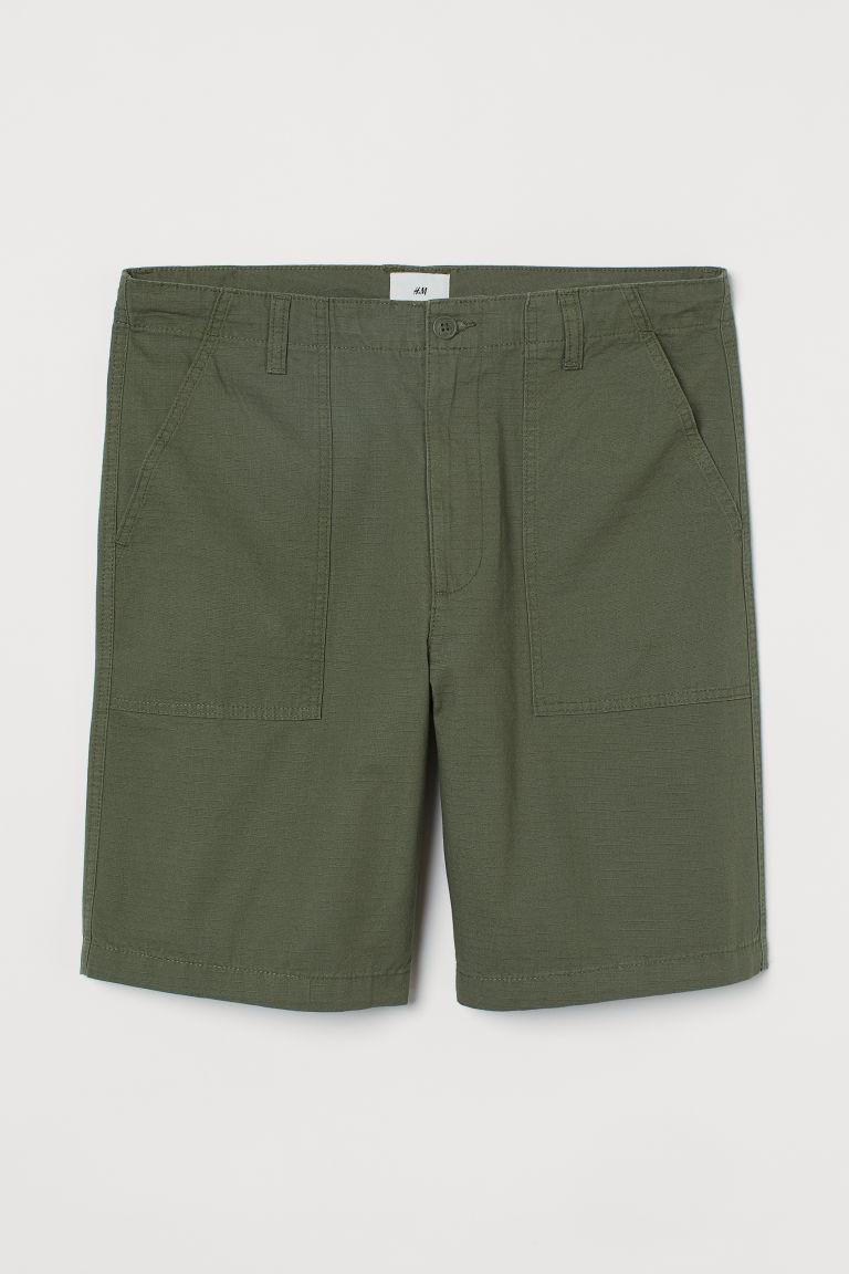 H & M - 棉質短褲 - 綠色