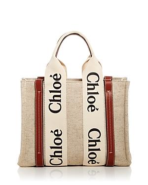 Chloe Woody Small Canvas Tote Bag