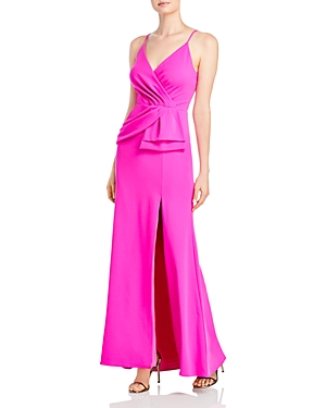 Aqua Sleeveless Peplum Gown - 100% Exclusive