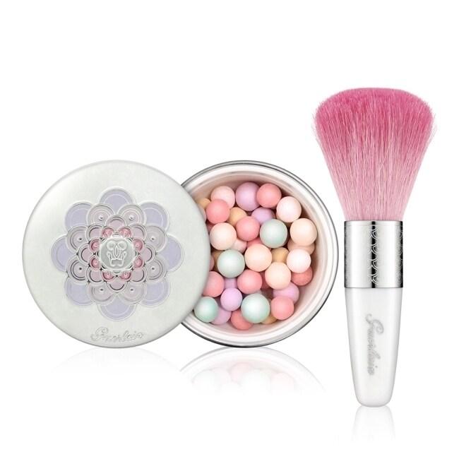 GUERLAIN 嬌蘭 幻彩流星綻白蜜粉球#2 白皙 25g+蜜粉刷