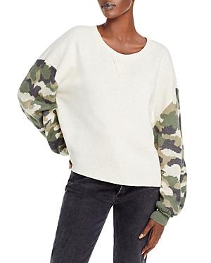 Vintage Havana Camo Print Fleece Sweatshirt