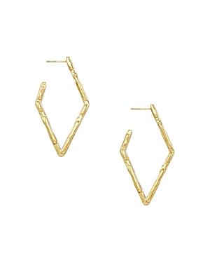 Kenda Scott Rylan Diamond Shaped Hoop Earrings