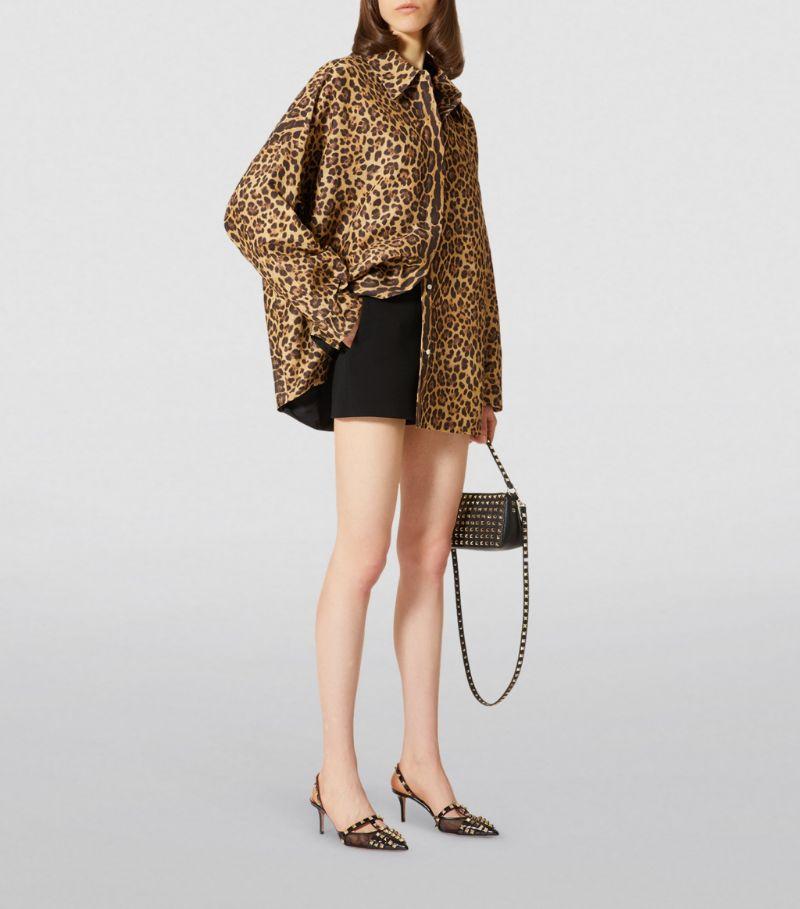 Valentino Oversized Leopard Print Shirt