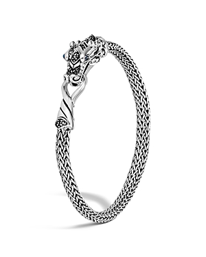 John Hardy Sterling Silver Legends Naga Extra Small Chain Bracelet with Blue Sapphire Eyes