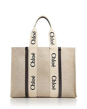 Chloe Woody Large Canvas Tote
