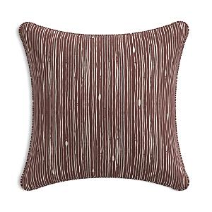 Sparrow & Wren Down Pillow in Mulberry Stripe, 20 x 20