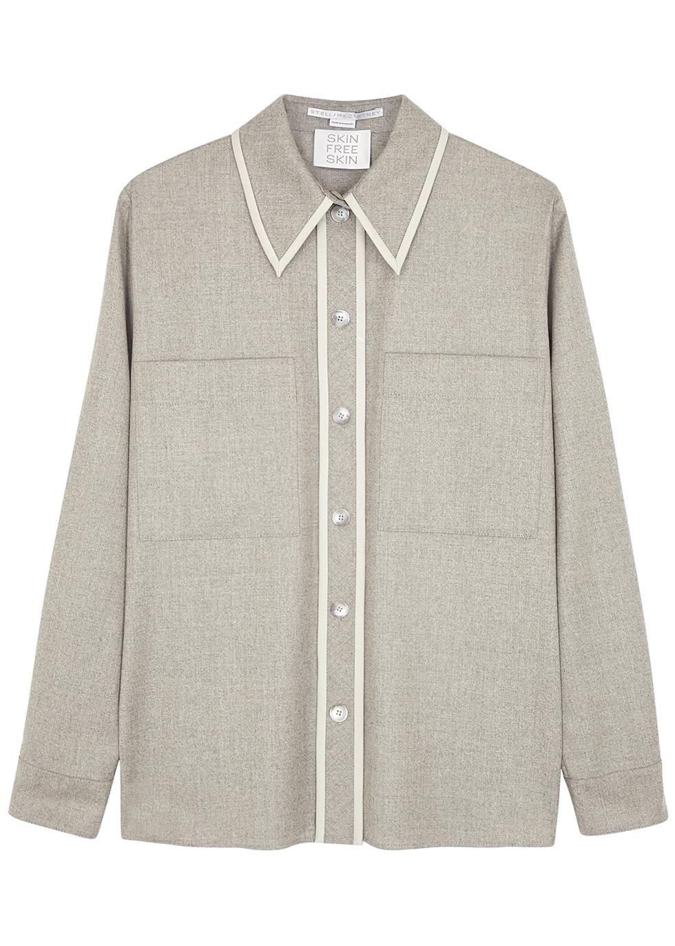 Ariel grey wool shirt