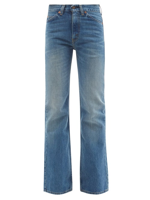 Valentino - X Levi's 517 Upcycled Bootcut Jeans - Womens - Denim