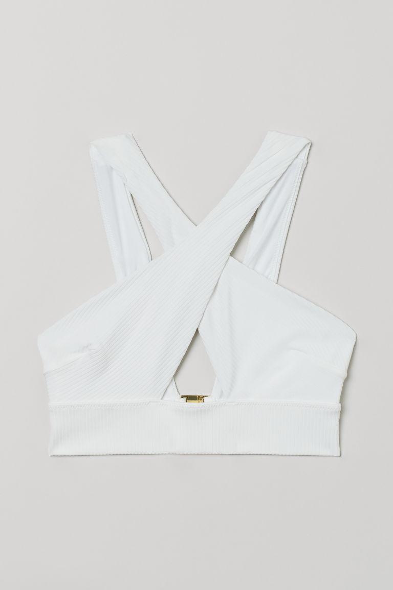 H & M - 比基尼上衣 - 白色