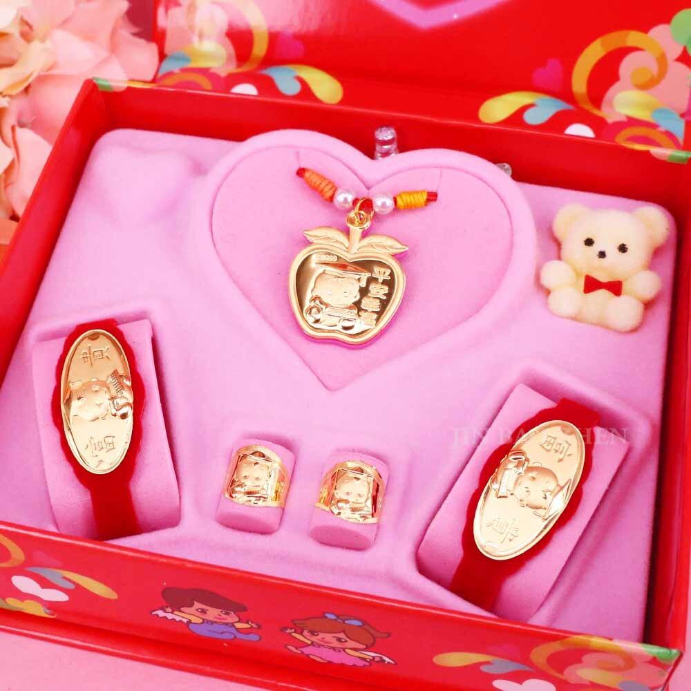 平平安安-彌月金飾音樂禮盒(0.30錢)