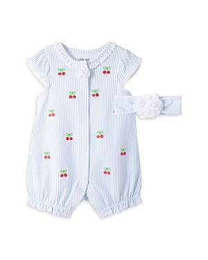 Little Me Girls' Cherries Romper & Headband Set - Baby