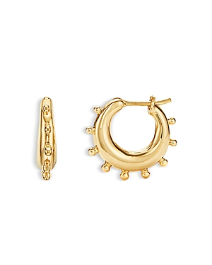 Temple St. Clair 18K Yellow Gold Yoga Small Hoop Earrings