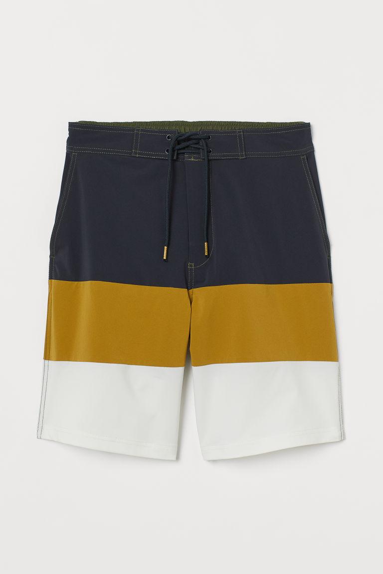 H & M - 及膝泳褲 - 黃色
