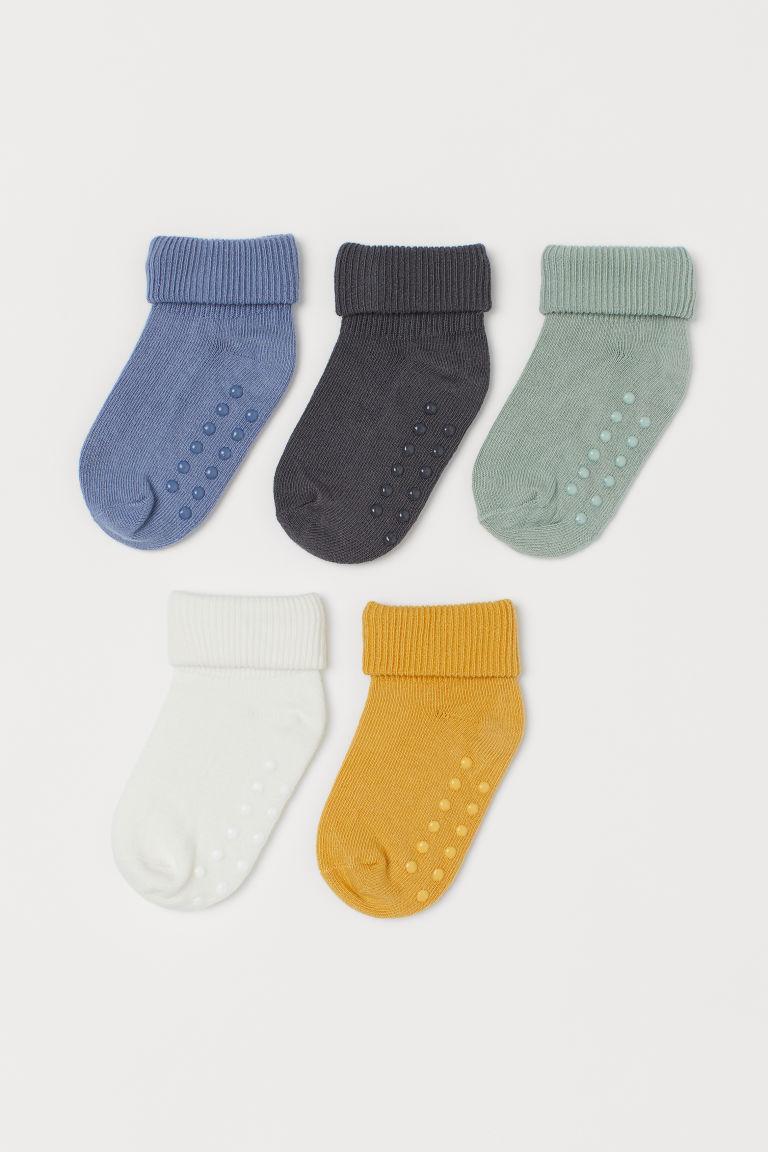H & M - 5雙入襪子 - 藍色