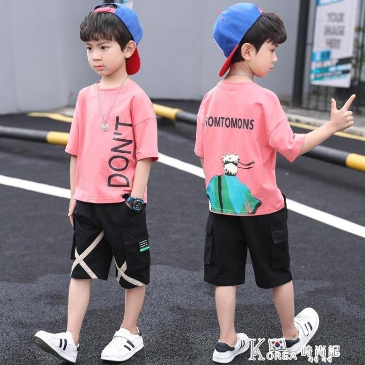 男童套裝-童裝男童夏裝套裝2021新款兒童男孩夏款衣服帥氣運動中大童夏季潮