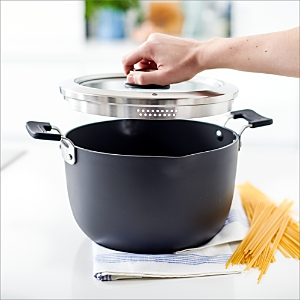 GreenPan Levels 6 Qt. Hard Anodized Stackable Ceramic Nonstick Stockpot with Straining Lid