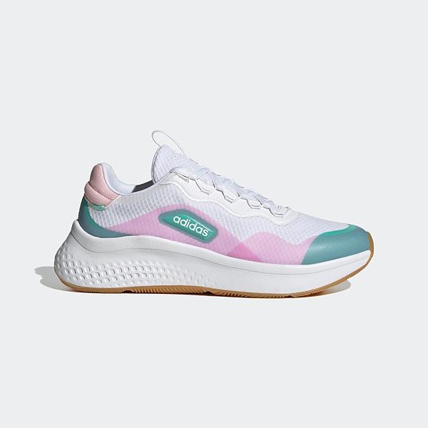 Adidas Primrose Sleek [FZ1937] 女鞋 運動 休閒 緩衝 彈力 舒適 愛迪達 白粉紅 湖水綠
