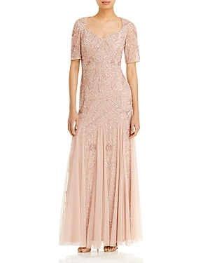 Adrianna Papell Beaded Godet Gown - 100% Exclusive