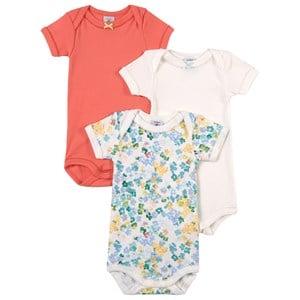 Petit Bateau Petit Bateau 3-Pack Multicolor Floral Baby Body 6 months
