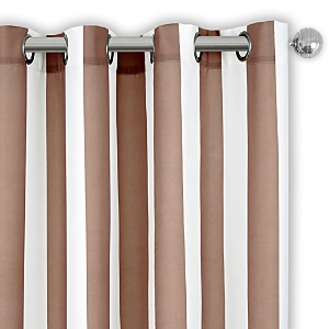Elrene Home Fashions Aiden Stripe Indoor/Outdoor Curtain Panel, 50 x 108