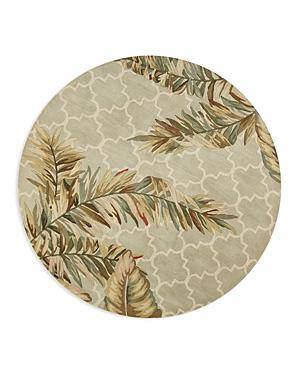 Kas Sparta Tropical Mosaic Round Area Rug, 7'6 x 7'6
