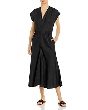 Rebecca Taylor Cropped Linen Jumpsuit