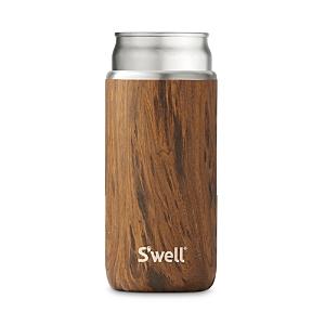 S'well Slim Chiller Teak Wood, 12 oz.