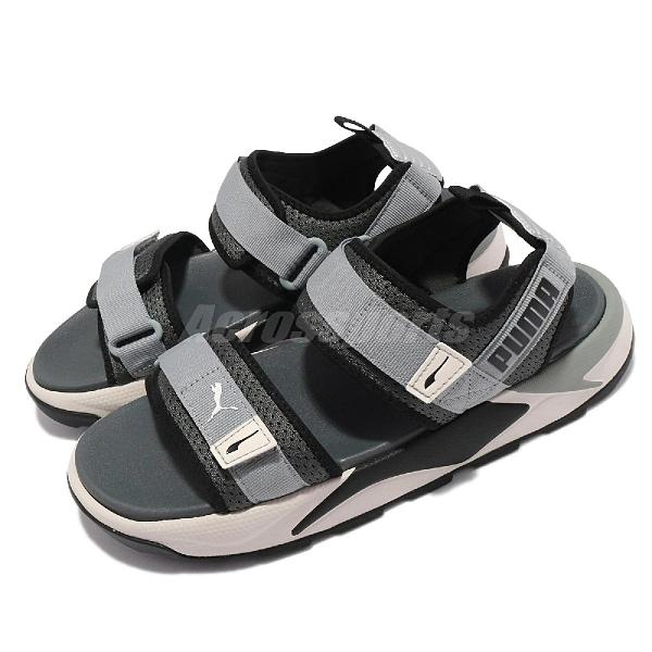 Puma 涼鞋 RS-Sandal 灰 黑 男鞋 女鞋 涼拖鞋 韓系 魔鬼氈 微厚底 【ACS】 37486204