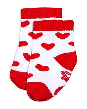 Sara Kety Girls' Red Heart Socks - Baby