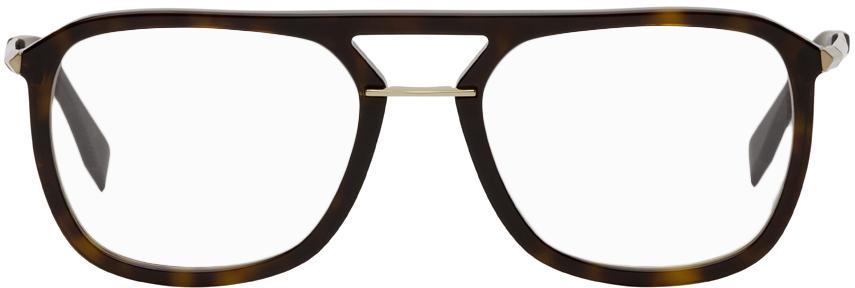 Fendi 玳瑁色飞行员眼镜