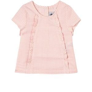 Petit Bateau Pink Checkered Top 6 months