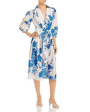 Alberta Ferretti Wrap Midi Dress