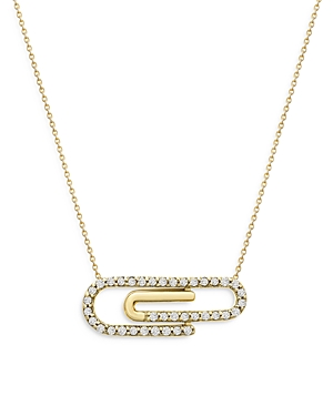 Bloomingdale's Diamond Paper Clip Necklace in 14K Yellow Gold, 0.25 ct. t.w. - 100% Exclusive