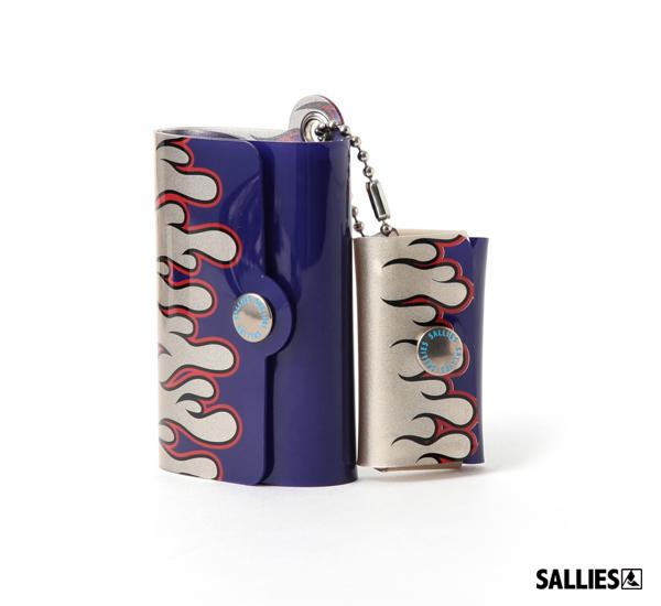 日本SALLIES Minimal Wallet PocketPal火燄迷你錢包(銀藍)
